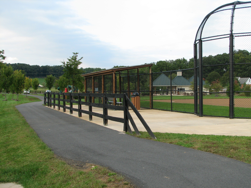 Athletic field and pavilions in Northern Fauquier Community Park