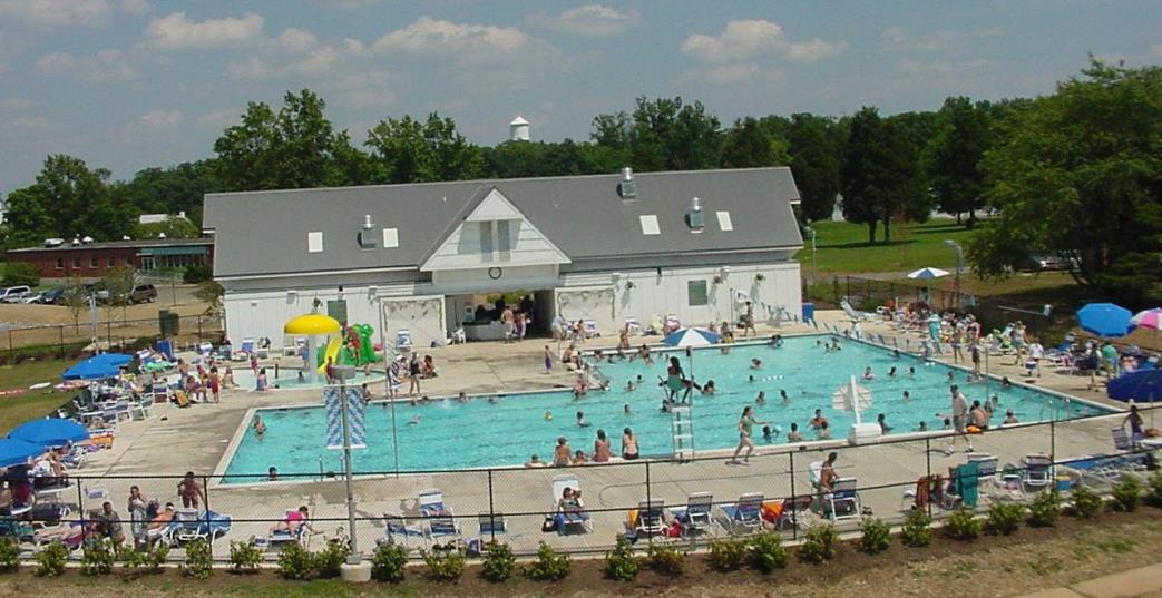 Aerial View of Larry Weeks Community Pool