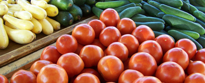 squash tomatoes and cucumbers