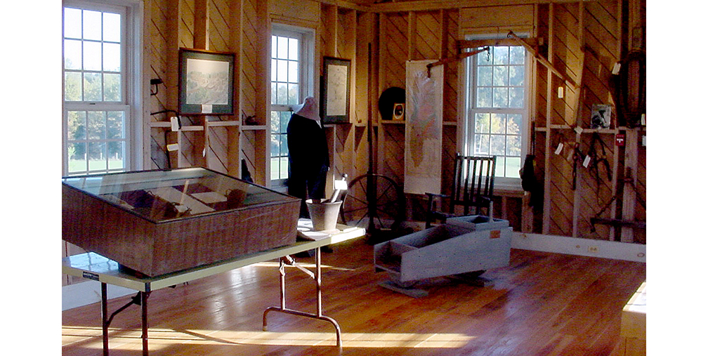 Early exhibits and displays at the Gold Mining Camp Museum in Monroe Park