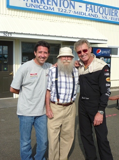 Mike Goulian, Charles Kulp and Sean Tucker visit the airport.