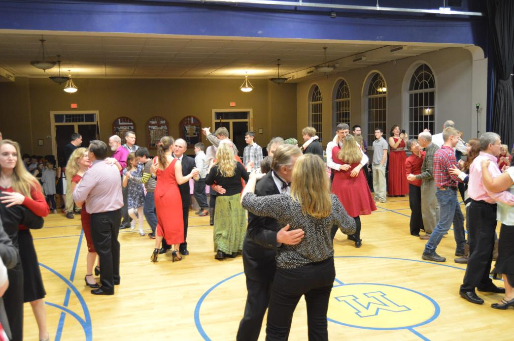 Participants dancing at Silver Tone Swing Band Concert