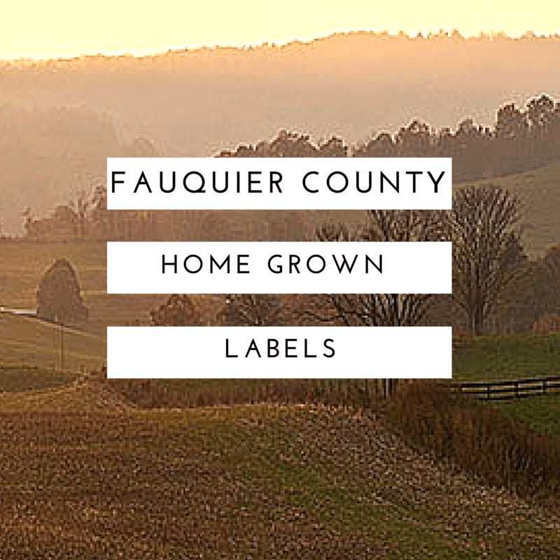 Fauquier County Home Grown Labels