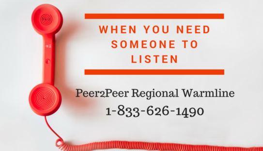 Peer2Peer Regional Warmline